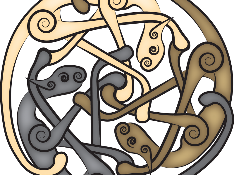 Celtic Cat Triskelion